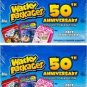 """2017 Topps Wacky Packages 50th Anniversary """"GOLD"""" VERY RARE """"DOH-NUT HOLES"""" 1/1"""