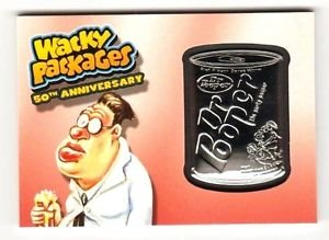 "2017 Wacky Packages 50th Anniversary RED MEDALLION ""DR.POOPER"" 05/10 RARE!!"