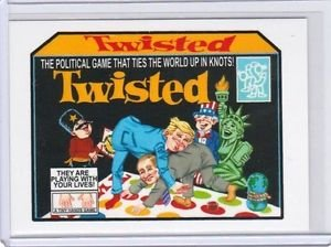 """2017 WACKY PACKAGES/GPK TRUMPOCRACY 1ST 100 DAYS """"TWISTED"""" #97 LIMITED EDITION."""