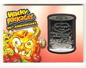 """2017 Wacky Packages 50th Anniversary RED MEDALLION """"DEL MONSTER"""" 09/10 RARE!!"""