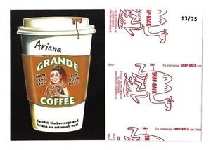 """2017 Wacky Packages 50th Anniversary RED LUDLOW """"ARIANA GRANDE COFFEE"""" 13/25"""