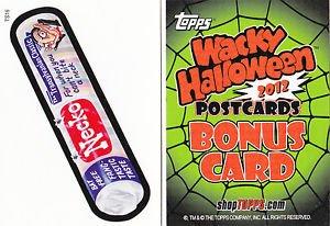 "2012 WACKY PACKAGES HALLOWEEN LIMITED EDITION ""NECKO"" BONUS CARD TS16"