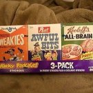 2010 WACKY PACKAGES ALL NEW SERIES 7 {ANS7} SEALED CEREAL BOX SET OF 3 A-SET