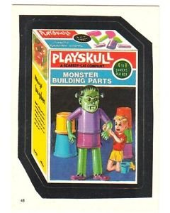 "1986 WACKY PACKAGES ALBUM SERIES STICKER ""PLAYSKULL"" #48 ONLY 99 CENTS"