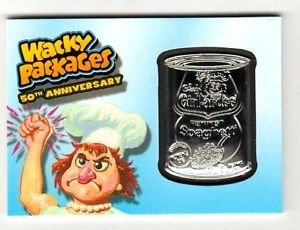 "2017 Topps Wacky Packages 50th Anniversary MEDALLION ""CHEF GIRL-AR-DEE"" 83/99"