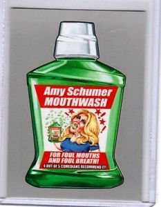 """2017 WACKY PACKAGES 50th ANNIVERSARY SILVER STICKER """"AMY MOUTHWASH"""" 19/50"""