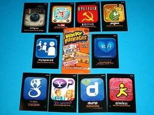 "2013 WACKY PACKAGES ALL NEW SERIES 10 {ANS10} ""AWFUL APPS"" COMPLETE SET 10/10"