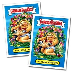 """2017 Wacky Packages-Garbage Pail Kids 2017 Shammy's """"BEAUTIFUL BEYONCE"""" BOTH"""