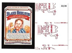 """2017 Wacky Packages 50th Anniversary RED LUDLOW """"BLAKE SHELTON BISCUITS"""" 22/25"""