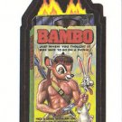 "WACKY PACKAGES 1991 SERIES ""BAMBO"" #21 STICKER CARD"