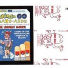 """2017 Wacky Packages 50th Anniversary RED LUDLOW """"POKEMAIM BAND-AIDS"""" 19/25"""