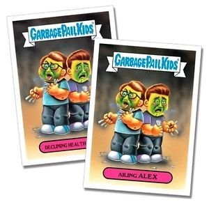"""2017 Wacky Packages-Garbage Pail Kids 2017 Shammy's """"AILING ALEX"""" YOU GET BOTH"""
