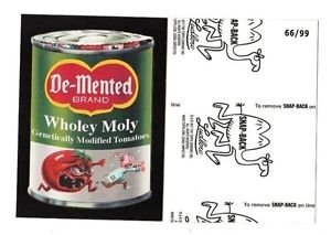 """2017 Wacky Packages 50th Anniversary BLACK LUDLOW """"DE~MENTED TOMATOES"""" 66/99"""