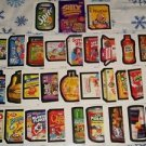 2008 SILLY SUPERMARKET ALL NEW SERIES COMPLETE STICKER SET LIKE WACKY PACKAGES.