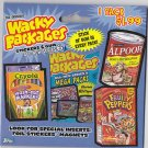 2007 WACKY PACKAGES PACKAGE OF ONE ALL NEW SERIES 6 (ANS6) SEALED PACK. RARE