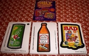 SILLY SUPERMARKET SERIES 1-3 COMPLETE STICKER SETS LIKE WACKY PACKAGES ALL 3 WOW