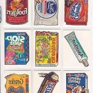 "2004 WACKY PACKAGES ALL NEW SERIES 1 {ANS1} COMPLETE ""TATTOO'S"" SET 10/10"