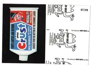 """2017 Wacky Packages 50th Anniversary BLACK LUDLOW """"CRUST TOOTHPASTE"""" 67/99"""
