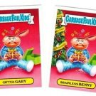 "2016 GARBAGE PAIL KIDS X-MAS EXCLUSIVES ""GIFTED GARY & BRAINLESS BENNY"" #6a & b"