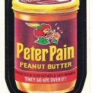 1974 WACKY PACKAGES ORIGINAL 6TH SERIES **PETER PAIN PEANUT BUTTER** STICKER