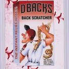 "2016 WACKY PACKAGES BASEBALL SERIES 1 LACE BORDER ""D-BACKS BACK SCRATCHER"" #18"