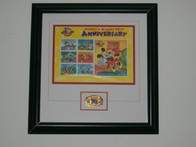 Mickey & Minnie 70th Anniversary Framed Art W/C.O.A. & TAGS  MUST SEE! RARE!