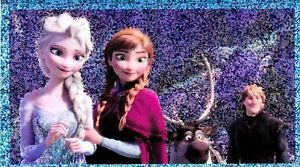 PANINI DISNEY FROZEN STICKER  #166 SHINY!  HARD TO FIND!