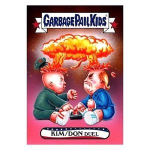 "2017 WACKY PACKAGES/GARBAGE PAIL KIDS TRUMPOCRACY 1ST 100 DAYS ""KIM/DON DUEL"""
