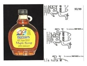 """2017 Wacky Packages 50th Anniversary BLACK LUDLOW """"BERNIE'S MAPLE SYRUP"""" 93/99"""