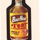 "1974 WACKY PACKAGES WONDER BREAD 2nd SERIES ""BOO~HOO DRINK"" STICKER CARD NM"