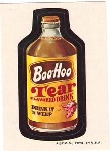 "1974 WACKY PACKAGES WONDER BREAD 2nd SERIES ""BOO~HOO DRINK"" STICKER CARD NM"