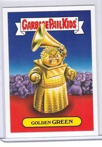 """2017 Wacky Packages-Garbage Pail Kids 2017 THE SHAMMY'S """"GOLDEN GREEN"""" LIMITED"""