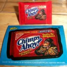 "WACKY PACKAGES ERASER SERIES 1 ""CHIMPS AHOY!"" ERASER & MATCHING STICKER #22 RARE"