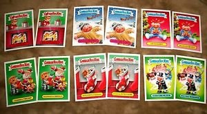 2016 GARBAGE PAIL KIDS COMPETE GPK CHRISTMAS STICKERS SET ALL TWELVE 1ab-6ab