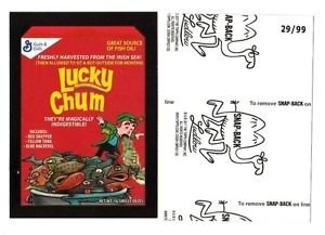 """2017 Wacky Packages 50th Anniversary BLACK LUDLOW """"LUCKY CHUM CEREAL"""" 29/99"""