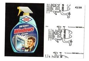 "2017 Wacky Packages 50th Anniversary BLACK LUDLOW ""BILL GATES WINDOWS"" 43/99"