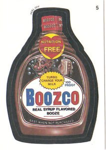 "WACKY PACKAGES 1991 SERIES ""BOOZCO"" #5 STICKER CARD"