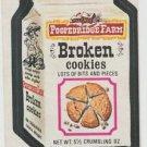 "1974 WACKY PACKAGES ORIGINAL 10TH SERIES ""POOPEDRIDGE FARM"" STICKER CARD"