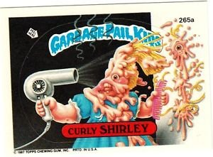 "1987 GARBAGE PAIL KIDS ORIGINAL 7TH SERIES ""CURLY SHIRLEY"" #265a STICKER CARD"