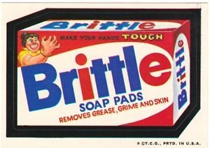 """1974 WACKY PACKAGES WONDER BREAD 2nd SERIES """"BRITTLE SOAP PADS"""" STICKER"""