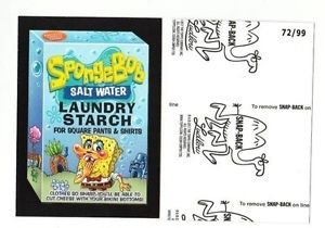 "2017 Wacky Packages 50th Anniversary BLACK LUDLOW ""SPONGEBOB STARCH"" 72/99"