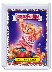 "2016 GARBAGE PAIL KIDS AMERICAN APPLE PIE GPK GOLD DUST ""BRAWLING BARB"" 39/50"