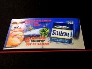 "2013 WACKY PACKAGES CHROME SERIES 1 ""SAILEM CIGARETTES"" #31 WACKY AD CARD"
