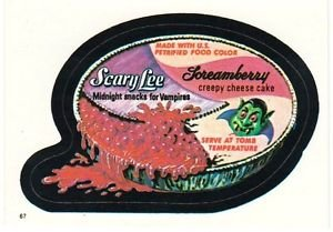 """TOPPS WACKY PACKAGES 1982 SERIES ALBUM STICKER """"SCARY LEE"""" #67"""