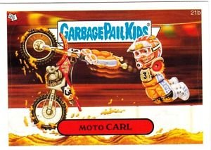 "2006 GARBAGE PAIL KIDS ALL NEW SERIES 5 {ANS5} ""MOTO CARL"" #21b STICKER CARD"