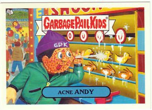 """2005 GARBAGE PAIL KIDS ALL NEW SERIES 4 {ANS4} """"ACNE ANDY"""" #34b STICKER"""