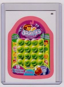"""2011 WACKY PACKAGES ALL NEW SERIES 8 {ANS8} PINK BORDER CARD """"SQUINTIES"""" #44"""