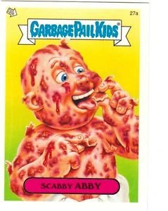 """2004 GARBAGE PAIL KIDS ALL NEW SERIES 2 {ANS2} """"SCABBY ABBY"""" #27a STICKER CARD"""