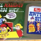 """2014 WACKY PACKAGES CHROME SERIES 1 """"AWFUL BITS"""" WACKY ADS #34 CARD"""