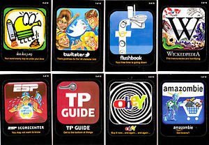 "2012 WACKY PACKAGES ALL NEW SERIES 9 {ANS9} ""AWFUL APPS"" COMPLETE SET 10/10"